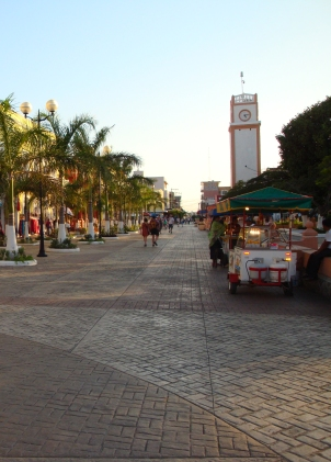 Villa Mar, uma praça em Cozumel (foto: Priscila Dal Poggetto)