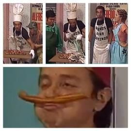 Churros da Dona Florinda, um dos melhores da série mexicana 'Chaves' (Reprodução/YouTube)
