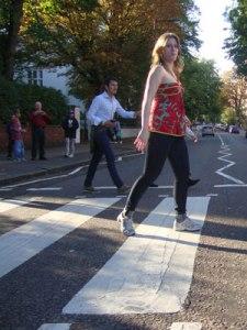 Abbey Road, mas com tênis (Foto: Priscila Dal Poggetto)