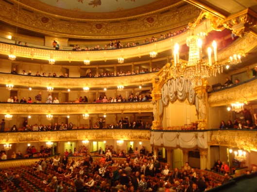Dentro do Teatro Mariinsky (Foto: Priscila Dal Poggetto)