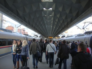 Estação Leningradsky, em Moscou - onde toca o hino (Foto: Priscila Dal Poggetto)