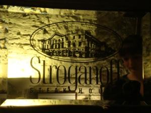 Entrada do Stroganoff Restaurant, o legítimo (Foto: Priscila Dal Poggetto)