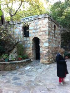 Uma das entradas da casa de Maria (Foto: Priscila Dal Poggetto)