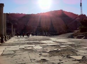 Sítio arqueológico de Éfeso (Foto: Priscila Dal Poggetto)