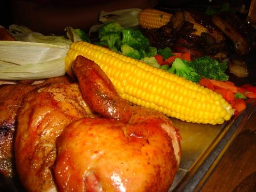 A mega refeição no Três Vassouras (Foto: Priscila Dal Poggetto)