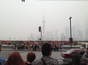 Ruas do centro de Xangai (Foto: Priscila Dal Poggetto)