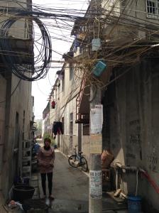 Uma das ruelas na periferia de Wuhu (Foto: Priscila Dal Poggetto)