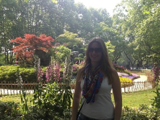 Jardim em Hangzhou (Foto: Priscila Dal Poggetto)