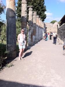 Cidade de Pompeia foi preservada pela lama e fuligem do vulcão que a destruiu (Foto: Priscila Dal Poggetto)