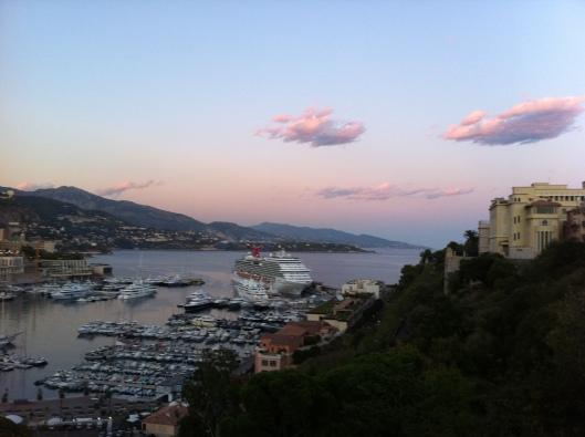 A bela vista de Mônaco (Foto: Priscila Dal Poggetto)