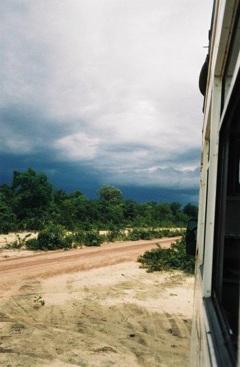 Nuvens de chuva no Deserto do Jalapão (Foto: Priscila Dal Poggetto)