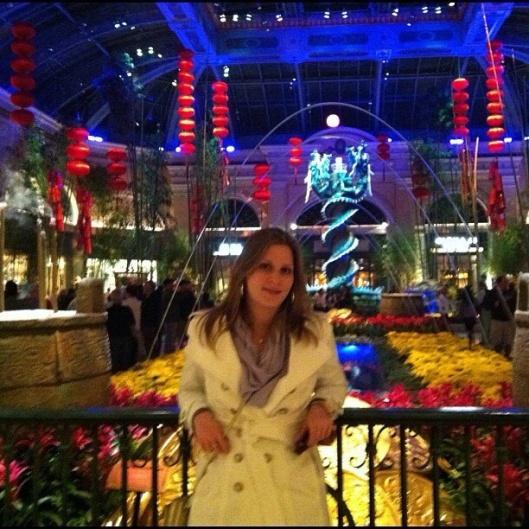 Saguão de um dos hotéis em Vegas (Foto: Priscila Dal Poggetto)