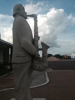 O saxofonista de Rondonópolis (Foto: Priscila Dal Poggetto)