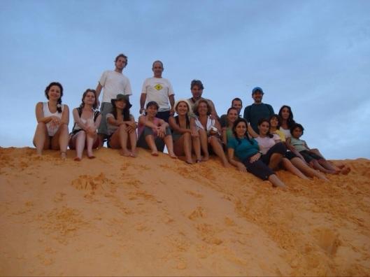 A areia laranja do Deserto do Jalapão (Foto: Arquivo Pessoal)