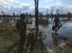KJ e OT no lago dos hipopótamos, nosso segundo local para acampar