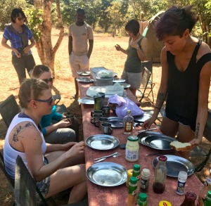 Lunch time no acampamento