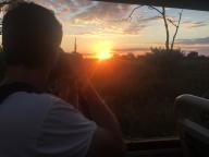 Mais um por do sol no Chobe